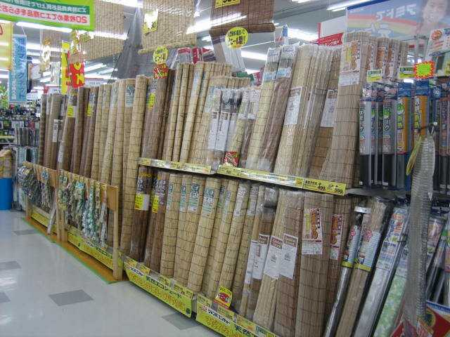 Tatami et sudare coucou du japon for Store exterieur bambou